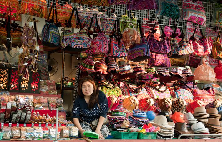 Аксессуары на плавучем рынке