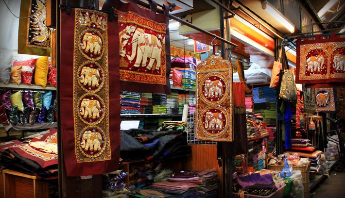 Тайский текстиль с вышивкой ручной работы