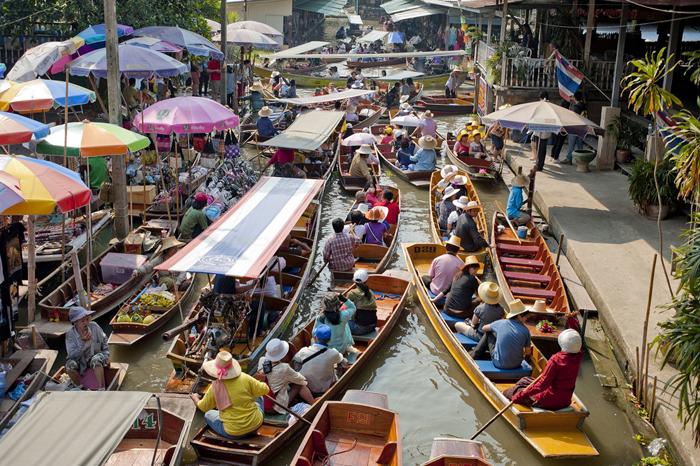 Водный рынок Damnoen Saduak, Бангкок