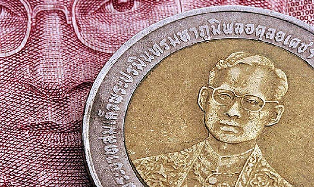 Изображение короля на деньгах Таиланда