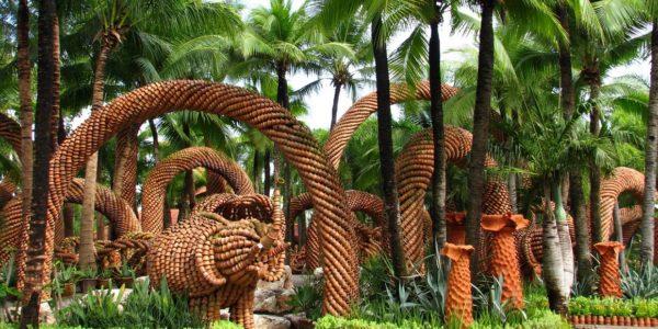Тропический парк сад Нонг Нуч — Бамбук