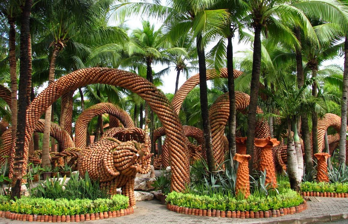 Тропический парк сад Нонг Нуч - Бамбук